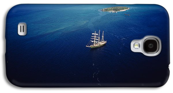 Sailboat Images Galaxy S4 Cases - High Angle View Of A Sailboat Galaxy S4 Case by Panoramic Images