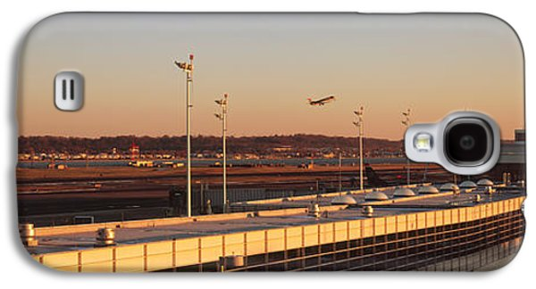 Reagan Galaxy S4 Cases - High Angle View Of An Airport, Ronald Galaxy S4 Case by Panoramic Images