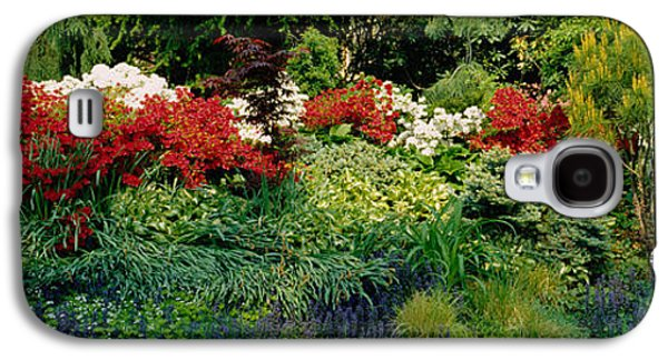 Garden Scene Galaxy S4 Cases - High Angle View Of Flowers In A Garden Galaxy S4 Case by Panoramic Images