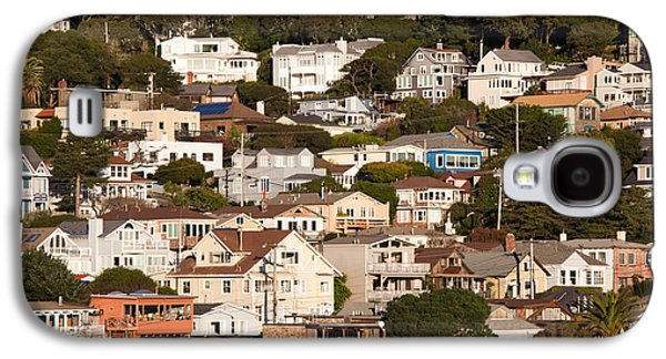 Sausalito Galaxy S4 Cases - High Angle View Of Houses In A Town Galaxy S4 Case by Panoramic Images