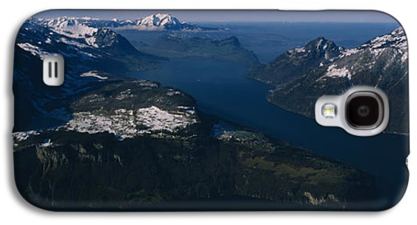 Lucerne Galaxy S4 Cases - High Angle View Of Mountains, Lake Galaxy S4 Case by Panoramic Images