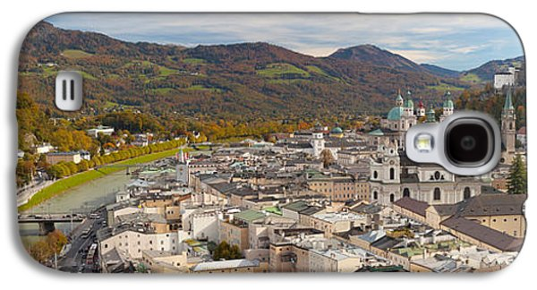 Salzburg Galaxy S4 Cases - High Angle View Of The City, Salzburg Galaxy S4 Case by Panoramic Images