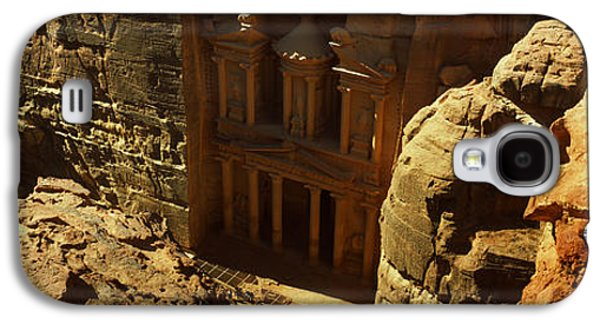 Petra Galaxy S4 Cases - High Angle View Of The Treasury, Wadi Galaxy S4 Case by Panoramic Images
