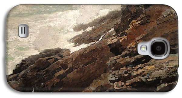 Maine Landscapes Paintings Galaxy S4 Cases - High Cliff coast of Maine 1894 Galaxy S4 Case by Winslow Homer