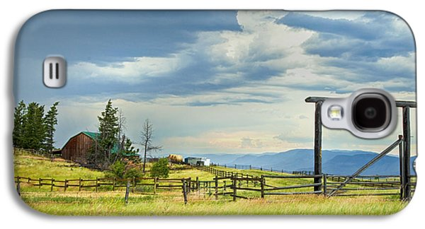 Storm Prints Photographs Galaxy S4 Cases - High Country Farm Galaxy S4 Case by Theresa Tahara