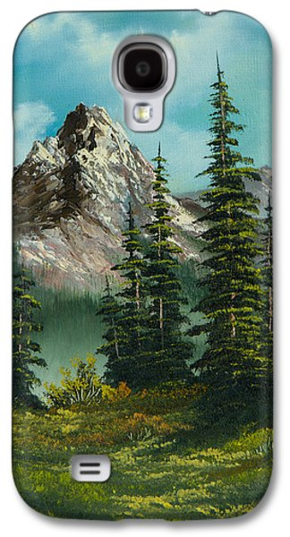 Sawtooth Mountain Paintings Galaxy S4 Cases - High Meadow Galaxy S4 Case by C Steele