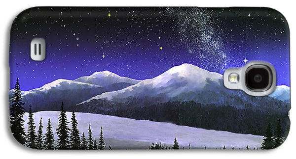 Constellations Paintings Galaxy S4 Cases - High Sierra Night Galaxy S4 Case by Douglas Castleman