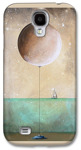 Moon Paintings Galaxy S4 Cases - High Tide Galaxy S4 Case by Cindy Thornton