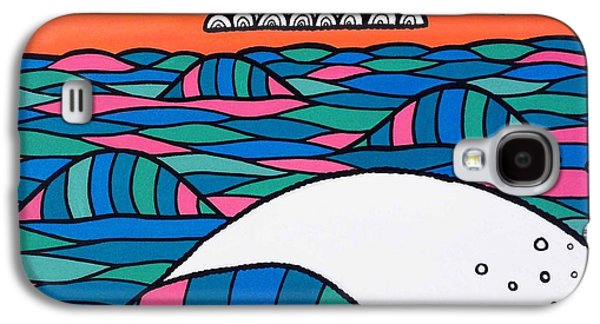 Waves Digital Art Galaxy S4 Cases - High Tide High Hope Galaxy S4 Case by Susan Claire