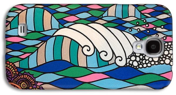 Waves Digital Art Galaxy S4 Cases - High Tide High Love Galaxy S4 Case by Susan Claire