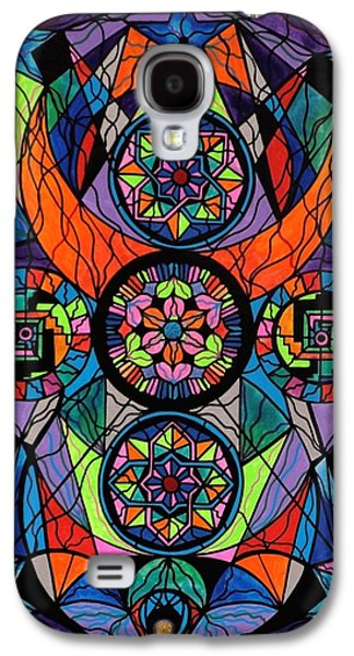 Geometry Paintings Galaxy S4 Cases - Higher Purpose Galaxy S4 Case by Teal Eye  Print Store