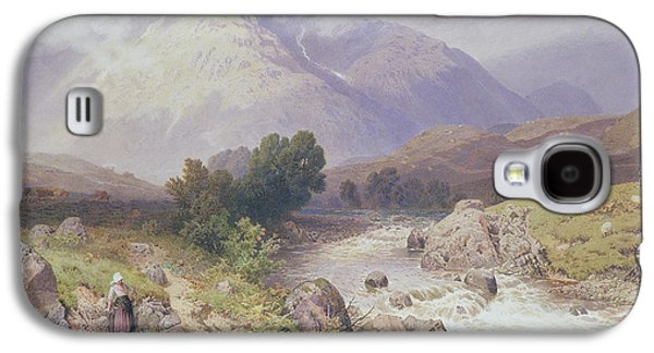 Scottish Dog Galaxy S4 Cases - Highland Scene Near Dalmally Argyll Galaxy S4 Case by Myles Birket Foster