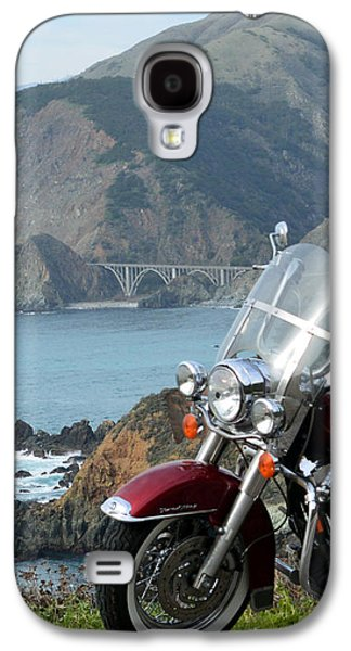 Coast Highway One Galaxy S4 Cases - Highway One Harley Galaxy S4 Case by Barbara Snyder