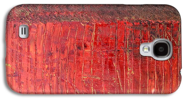 Nature Abstract Galaxy S4 Cases - Highway Series - Cranberry Bog Galaxy S4 Case by Michelle Calkins