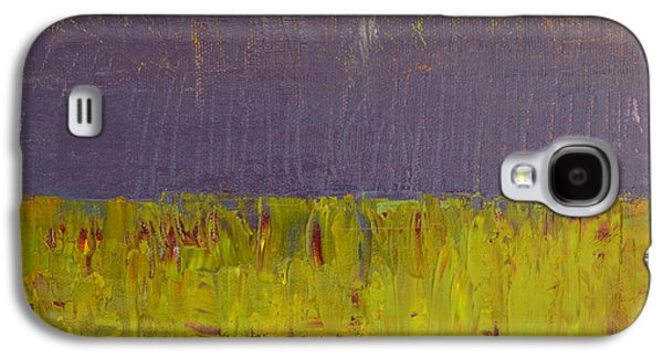 Abstract Landscape Galaxy S4 Cases - Highway Series - Lake Galaxy S4 Case by Michelle Calkins
