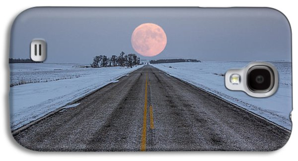 Moonrise Galaxy S4 Cases - Highway to the Moon Galaxy S4 Case by Aaron J Groen