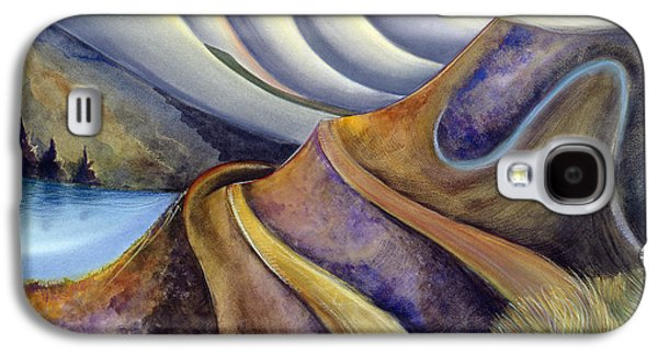 Half Moon Bay Galaxy S4 Cases - Highway with Fog Galaxy S4 Case by Jen Norton