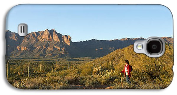 Person Galaxy S4 Cases - Hiker Standing On A Hill, Phoenix Galaxy S4 Case by Panoramic Images