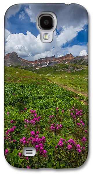 Storm Prints Photographs Galaxy S4 Cases - Hiking Ice Lake Basin Galaxy S4 Case by Darren  White