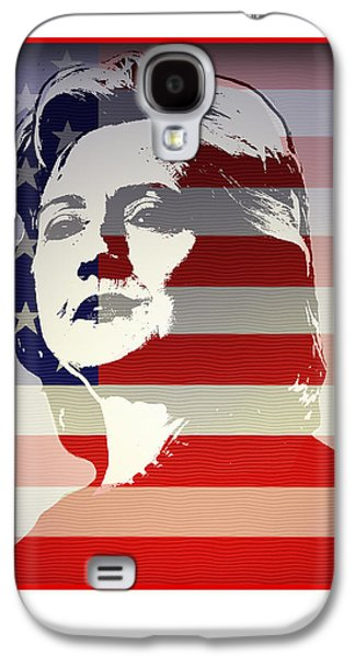 Hillary Clinton Galaxy S4 Cases - Hillary Galaxy S4 Case by Chris Van Es