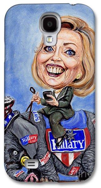 Hillary Clinton Galaxy S4 Cases - Hillary Clinton 2016 Galaxy S4 Case by Mark Tavares