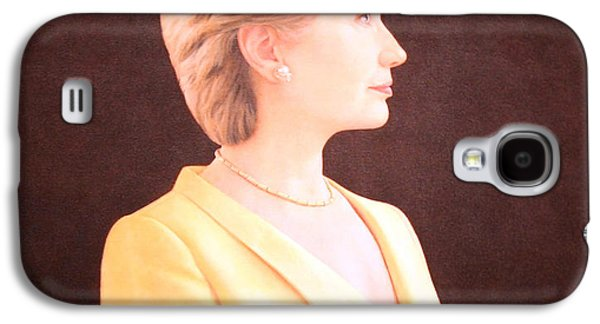 Hillary Clinton Galaxy S4 Cases - Hillary Rodham Clinton Up Close Galaxy S4 Case by Cora Wandel