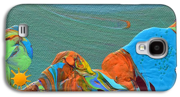Modern Abstract Galaxy S4 Cases - Hills Of A Different Color Galaxy S4 Case by Donna Blackhall