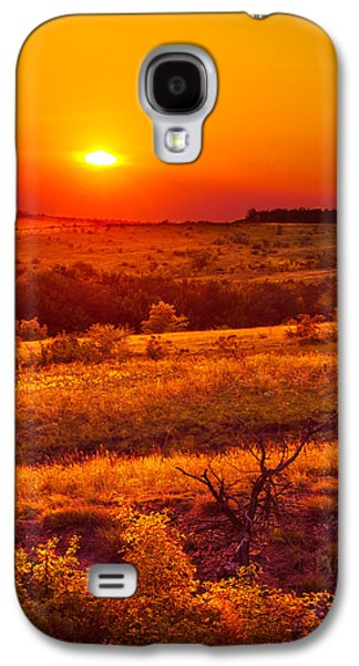 Landscapes Photographs Galaxy S4 Cases - Hills of gold Galaxy S4 Case by Dmytro Korol