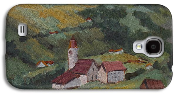 Swiss Paintings Galaxy S4 Cases - Hilltop Village Switzerland Galaxy S4 Case by Diane McClary