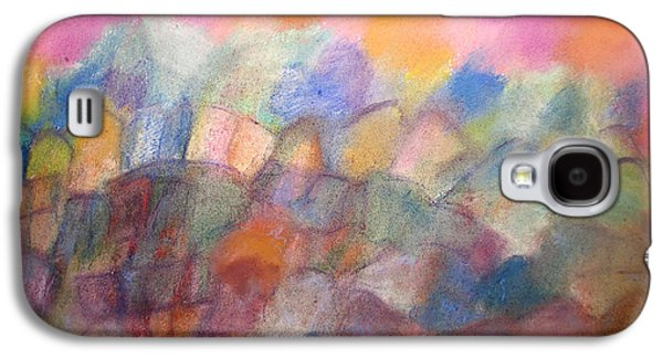 Nature Abstract Pastels Galaxy S4 Cases - Hilltop Village Galaxy S4 Case by Tolere