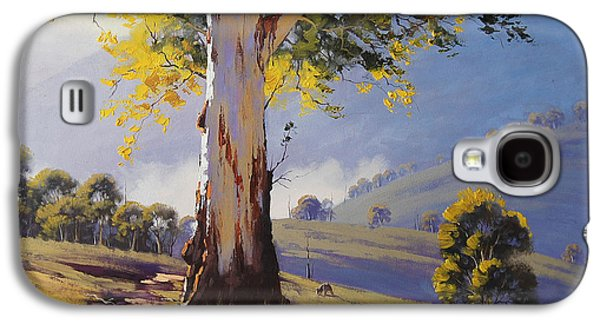 Beautiful Creek Paintings Galaxy S4 Cases - Hilly Australian Landscape Galaxy S4 Case by Graham Gercken