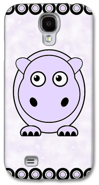 Girl Galaxy S4 Cases - Hippo - Animals - Art for Kids Galaxy S4 Case by Anastasiya Malakhova
