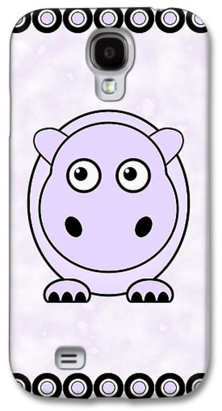 Cartoon Galaxy S4 Cases - Hippo - Animals - Art for Kids Galaxy S4 Case by Anastasiya Malakhova