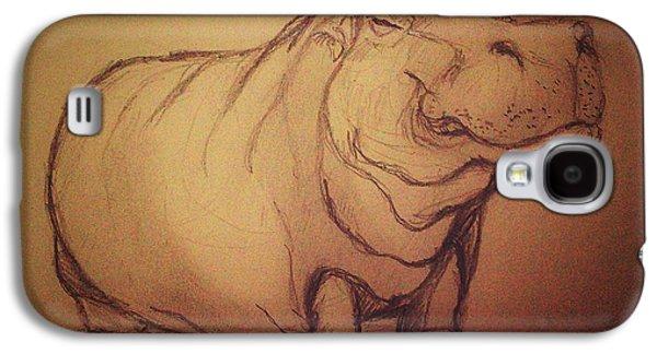 Hippopotamus Digital Art Galaxy S4 Cases - Hippo Galaxy S4 Case by Vineeth Menon