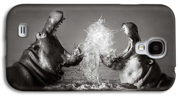 Intense Galaxy S4 Cases - Hippos fighting Galaxy S4 Case by Johan Swanepoel