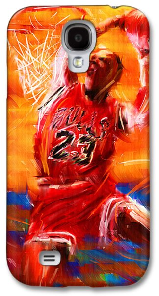 Basketball Abstract Galaxy S4 Cases - His Airness Galaxy S4 Case by Lourry Legarde