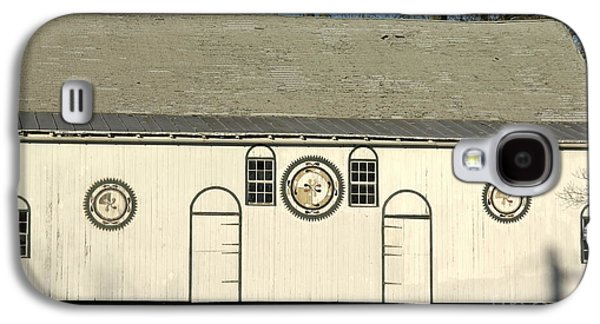 Seventeenth Century Galaxy S4 Cases - Historic Barn with Hex Signs in Pennsylvania Galaxy S4 Case by Anna Lisa Yoder