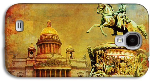 Spit Galaxy S4 Cases - Historic Center of Saint Petersburg Galaxy S4 Case by Catf