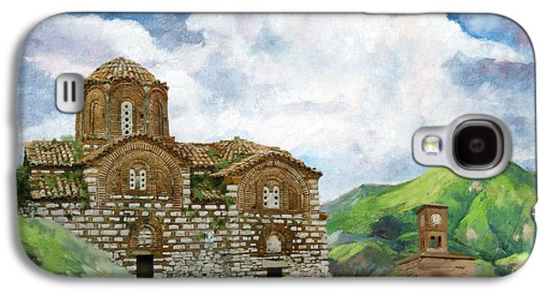 Museum Paintings Galaxy S4 Cases - Historic Centers of Berat and Gjirokastra Galaxy S4 Case by Catf