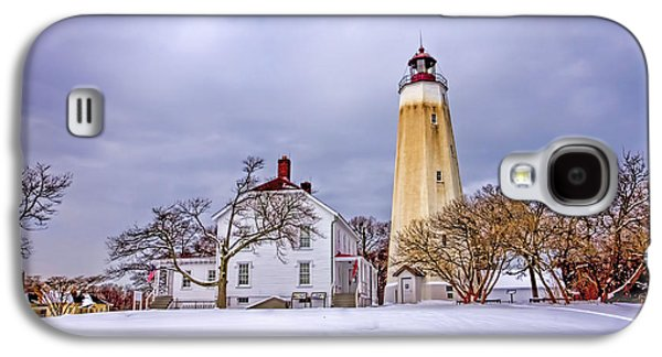 Base Path Galaxy S4 Cases - Historic Sandy Hook Lighthouse Galaxy S4 Case by Geraldine Scull