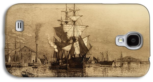 Historic Schooner Galaxy S4 Cases - Historic Seaport Schooner Galaxy S4 Case by John Stephens