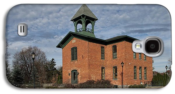 Gas Lamp Photographs Galaxy S4 Cases - Historical Building in SouthWest Michigan Galaxy S4 Case by Randall Nyhof
