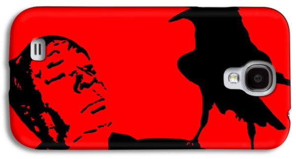 Macabre Digital Galaxy S4 Cases - Hitchcock in Red Galaxy S4 Case by Jera Sky