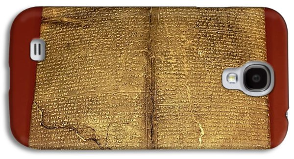Hittite Cuneiform Tablet Galaxy S4 Case by David Parker