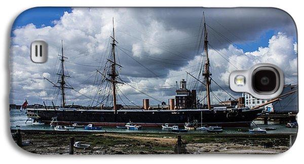 Ocean Sailing Galaxy S4 Cases - HMS Warrior Portsmouth Historic Docks Galaxy S4 Case by Martin Newman