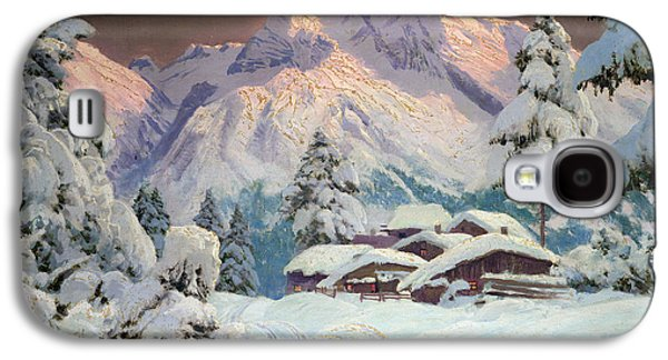 Snow Capped Galaxy S4 Cases - Hocheisgruppe Galaxy S4 Case by Alwin Arnegger