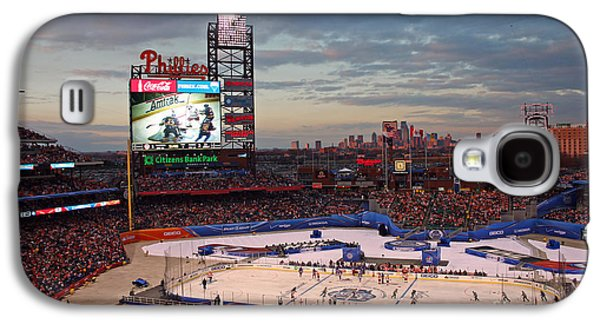 Phillies Galaxy S4 Cases - Hockey at the Ballpark Galaxy S4 Case by David Rucker