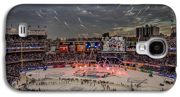 Hockey Photographs Galaxy S4 Cases - Hockey at Yankee Stadium Galaxy S4 Case by David Rucker