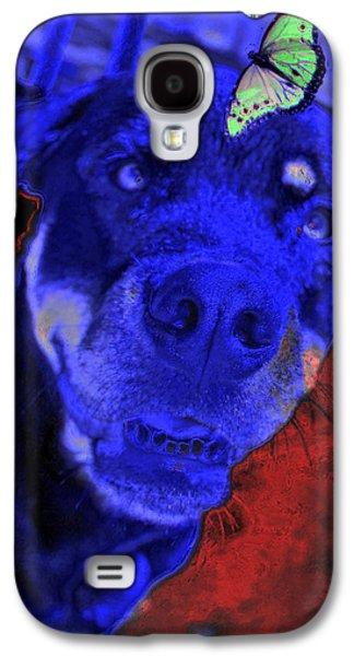 Chocolate Lab Digital Art Galaxy S4 Cases - Hocus Pokus Galaxy S4 Case by Mayhem Mediums