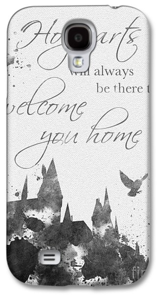 Hogwarts Quote Black And White Galaxy S4 Case by Rebecca Jenkins